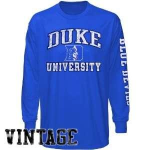 Duke Blue Devils Duke Blue Old Time Pride Long Sleeve Vintage T shirt