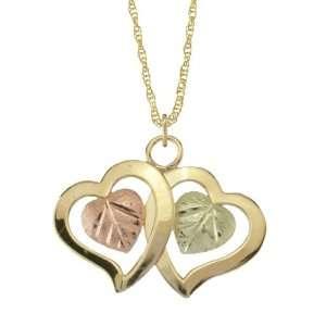 10K Gold Double Heart Jewelry Set Jewelry