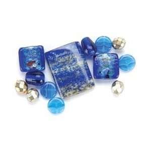Jesse James Dress It Up Semi Precious Beads 17.5 Grams/Pkg Blue