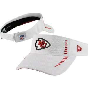 Kansas City Chiefs White New Era Training Visor
