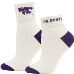 Kansas State Wildcats Ladies White Roll Down Socks  Sports
