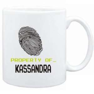 Mug White  Property of _ Kassandra   Fingerprint  Female