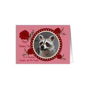 Valentines Day To Daughter And Family, Raccoon in a heart