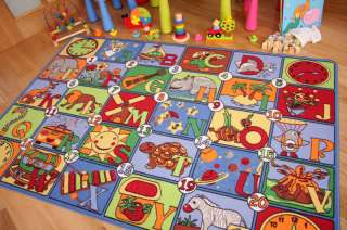 Letter Alphabet Picture Number Kids Play Mat Childrens Rugs Small