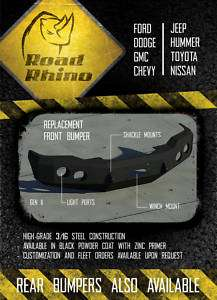 Road Rhino Chevy 1500 Winch Bumper Military Grade Armor