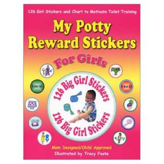 Reward Stickers for Girls: 126 Girl Potty Training Stickers and Chart