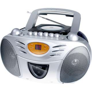 Jwin Portable AM/FM CD Boombox with Cassette Player/Recorder Audio