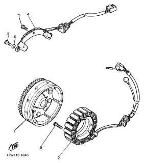 Parts Yamaha Virago 1100 (XV1100S) 1986 GENERATOR   Cheap Cycle Parts