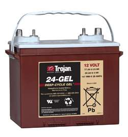 Gel Deep Cycle Battery 12V 77Ah Group Size 24   Brooklyn Battery