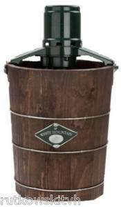 Quart Wooden Bucket Electric Motor Ice Cream Maker |
