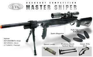 Master Model 700 Pro with Upgraded Bolt FPS 450, Bipod, Airsoft Gun