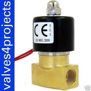 Electric Solenoid Valve 12 Volt Air, Gas,Fuel B20N