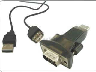 USB to RS232 Serial 9 Pin DB9 Male Converter Adapter