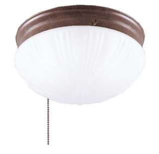Westinghouse 67202 2 Light Ceiling Fixture with Pull Chain Featuring