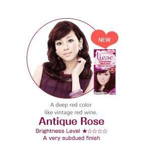 Liese Soft Bubble Hair Color (Antique Rose)   Cover Gray Hair Beauty