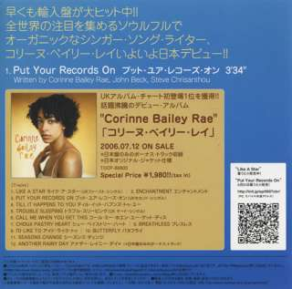Rae Pu Your Records On Japan Promo 5 Cd Single PCD 3221 Pu Your