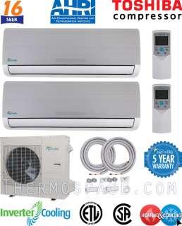 Ductless Mini Split Air Conditioner   Heat Pump: 16 SEER: TOSHIBA COMP