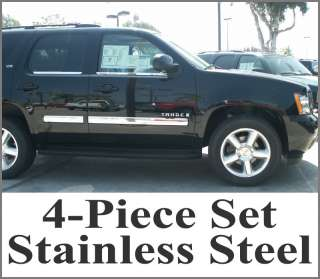 2010 2011 Chevy Avalanche Stainless Steel Body Side Molding Overlay