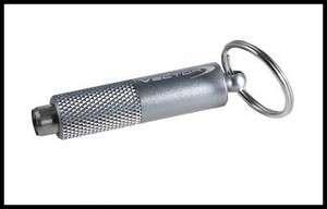 VECTOR Chrome Cigar Punch Cutter w/Gripper Design & Keyring NIB
