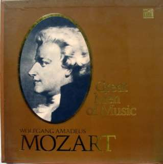 TIME LIFE great men of music mozart 4 LP VG+ STL 542