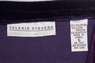 VALERIE STEVENS Dark Purple Long Stretch Velvet Skirt ~ SMALL