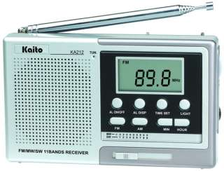 New AM/FM 11 Band Shortwave Digital Radio Receiver w/ Alarm Clock