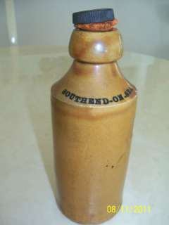 ANTIQUE STONEWARE POTTERY BOTTLE W/STOPPER