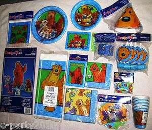 BEAR IN THE BIG BLUE HOUSE Birthday PARTY Supplies plates cups napkins