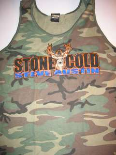 STONE COLD Steve Austin Camo Tank Top BIG BUCK DEER