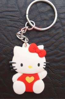 NEW Charm Hello Kitty PVC Key Chain Ring Cute 3PCS HOT