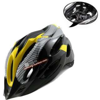Cycling Bicycle Adult Mens Bike Helmet yellow carbon colour With Visor