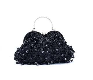 Pearls & Beads Crochet Evening/Wedding Party Clutch Purse Bag