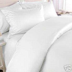 550 TC Full/Queen Duvet Comforter Cover set Solid White