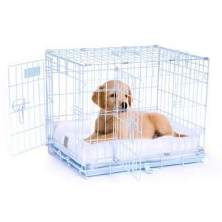 Precision Pet Products ProValu Two Door Dog Crate in Blue Dogs