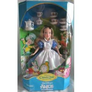 Disney Classic Doll Collection Alice in Wonderland with Tea Set
