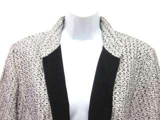 DUE PER DUE White Black Silk Tweed Jacket Blazer Sz 14W