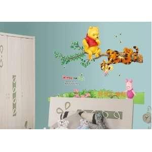 Winnie the Pooh & Tiger on the Tree Peel & Stick Nursery