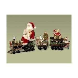 Karen Didion Originals Heirloom 3 Piece Locomotion Santa