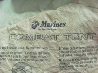 USGI Eureka Marine Military Combat TENT USMC, RECON, BUGOUT GEAR