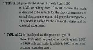Nano Aquarium Hydrometer saltwater salinity   FISH TANK