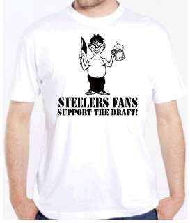 STEELERS FAN DRAFT BEER FUNNY FOOTBALL PITTSBURGH SHIRT