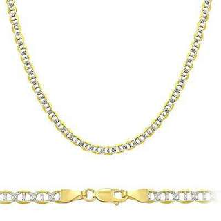 14k Two Tone Gold Gucci Mariner Chain Necklace 2.1mm 18
