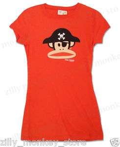 Paul Frank Pirate Julius Tee Shirt Top Red Sz L