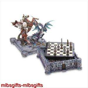 Medieval Dragons & Knights Castle Sculpture Chess Set