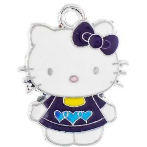 12X DIY Jewelry Making Hello Kitty alloy enamel charm