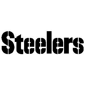 Steelers Lettering Text 10 Auto Car Truck Window Sticker / Banner