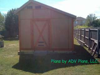 12X16 GABLE ROOF GARDEN SHED PLANS, DIY 26 PLAN SET