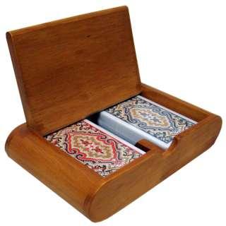 KEM PAISLEY Narrow Jumbo Index Plastic Cards Wood Box