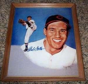 Cleveland Indians Bob Feller Autograph Doug West Print