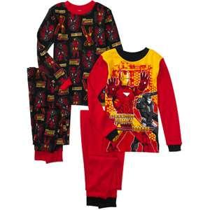 Marvel   Boys Iron Man 4 Piece Cotton Pajamas Boys